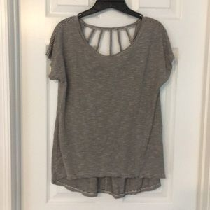 Striped t with open back